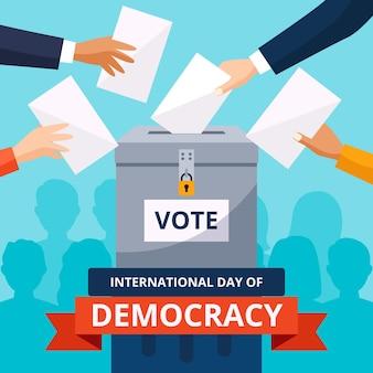 Diseño del día internacional de la democracia.