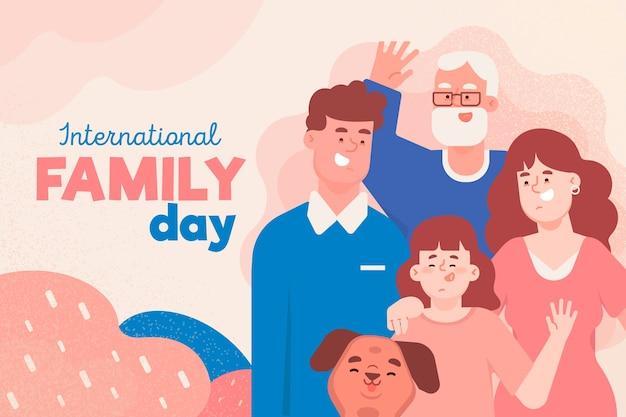 Diseño del día internacional de las familias.