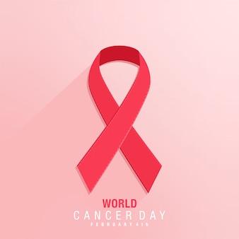 Diseño del día mundial del cáncer