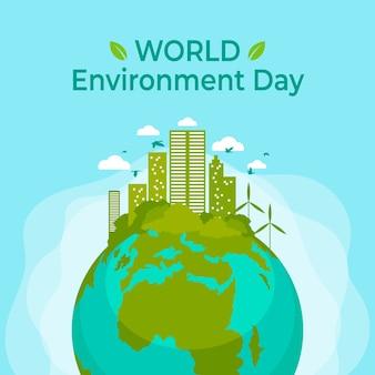 Diseño del día mundial del medio ambiente