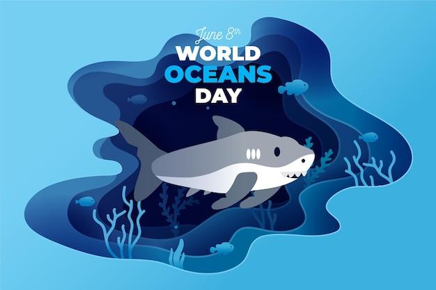 Diseño del día mundial de los océanos