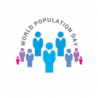 Diseño para el día mundial de la población con gente