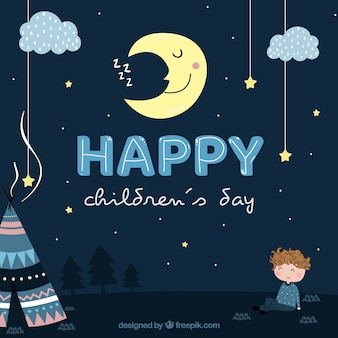 Diseño para el día de los niños de noche