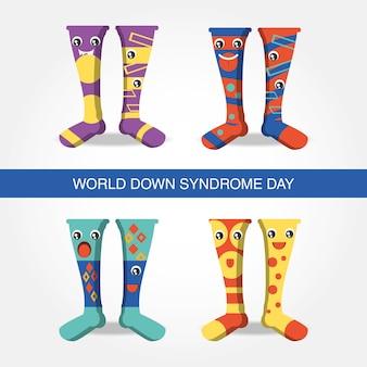 Diseño del día del síndrome de down