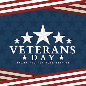 Diseño del día de los veteranos