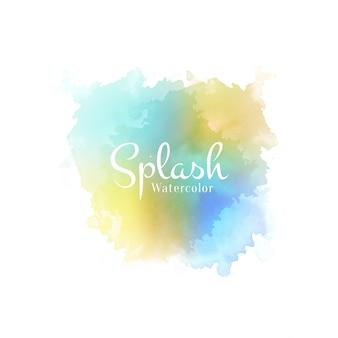 Diseño dibujado a mano acuarela abstracta splash