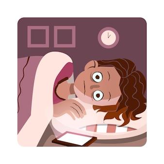 Diseño dibujado a mano del concepto de insomnio