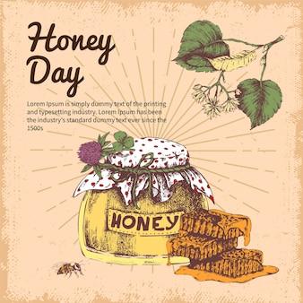 Diseño dibujado a mano del día de la miel