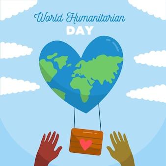 Diseño dibujado a mano día mundial humanitario