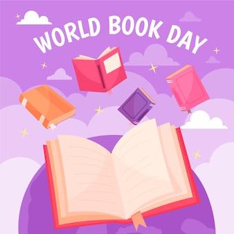 Diseño dibujado a mano del día mundial del libro