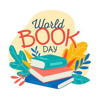 Diseño dibujado a mano día mundial del libro