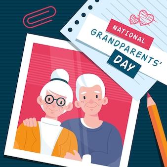 Diseño dibujado a mano día nacional de los abuelos