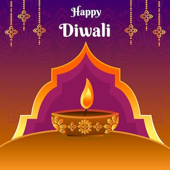 Diseño dibujado a mano diwali celebrar
