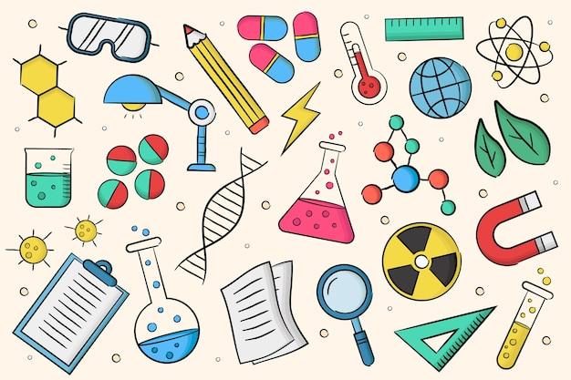 Diseño dibujado a mano educación científica