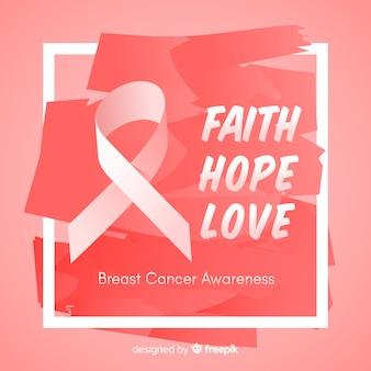 Diseño dibujado a mano para evento de concientización sobre el cáncer de mama