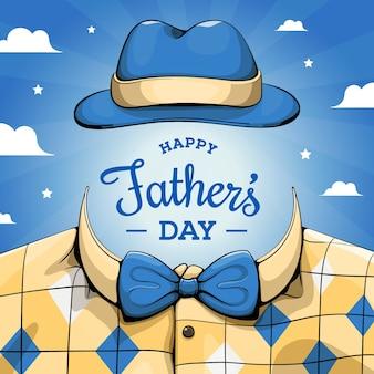Diseño dibujado a mano del evento del día del padre