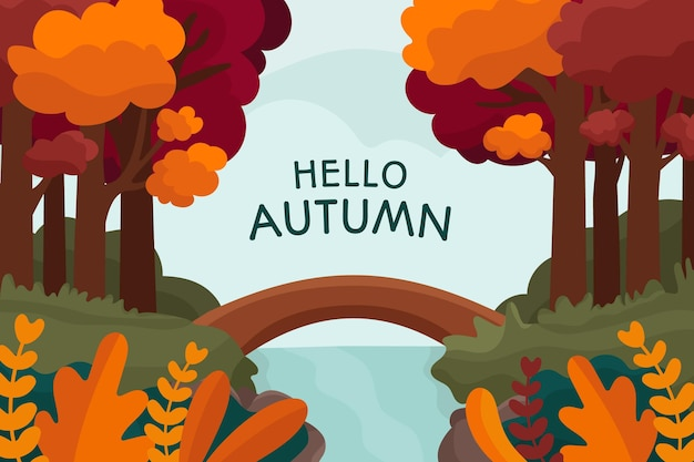 Diseño dibujado a mano de fondo otoño
