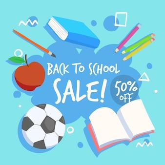 Diseño dibujado a mano ventas de regreso a la escuela