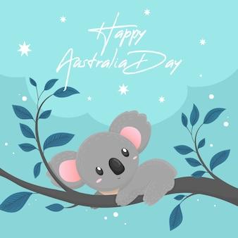 Diseño de dibujo del día nacional de australia