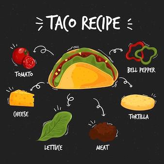 Diseño de dibujo de recetas