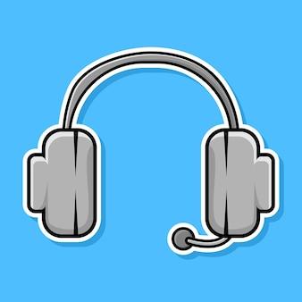 Diseño de dibujos animados de auriculares