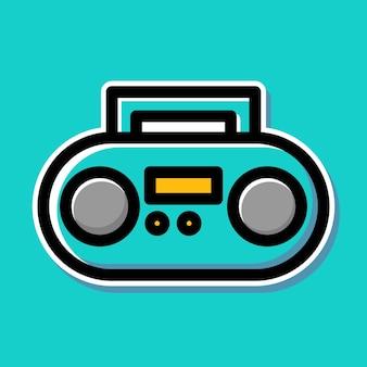 Diseño de dibujos animados de radio