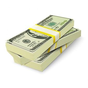 Diseño de dinero apilado