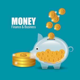 Diseño de dinero.