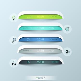Diseño de diseño infográfico moderno