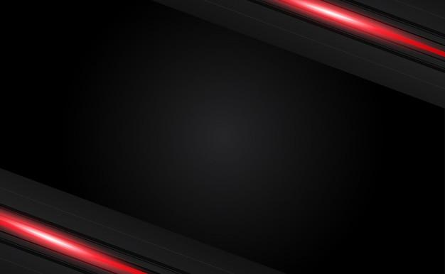 Diseño de diseño de marco negro rojo metálico abstracto