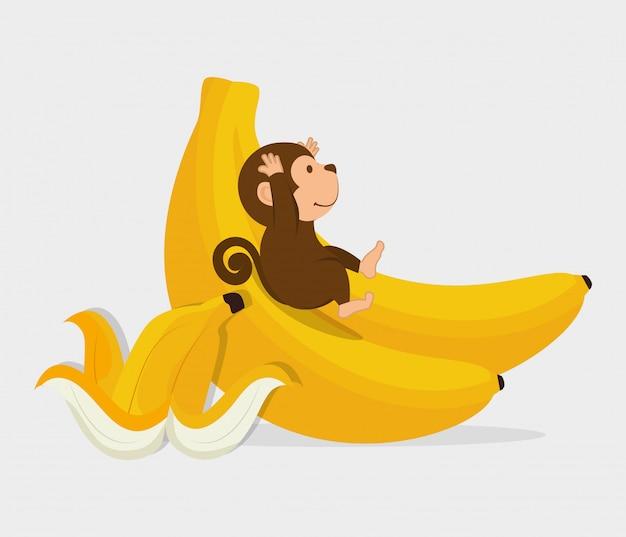 Diseño divertido mono