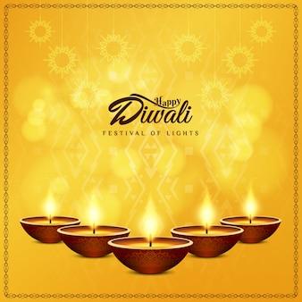 Diseño de diwali con cinco velas