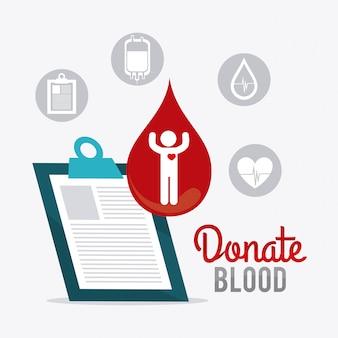 Diseño de la donación de sangre.