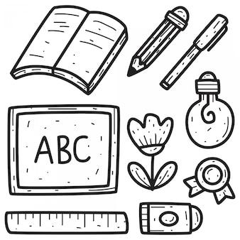 Diseño de doodle regreso a la escuela