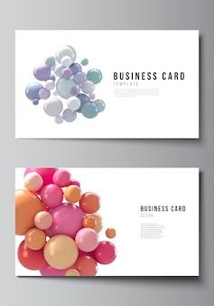 Diseño de dos plantillas de diseño de tarjetas