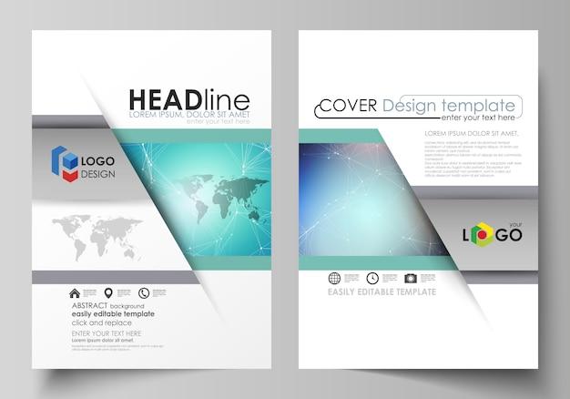 El diseño de dos plantillas de portadas modernas en formato a4