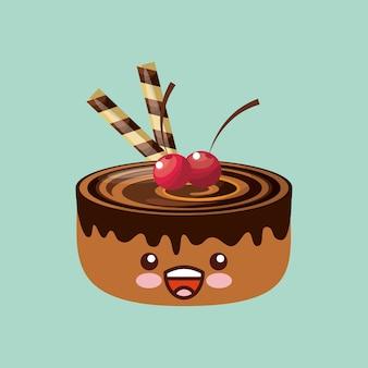 Diseño dulce del icono de la magdalena