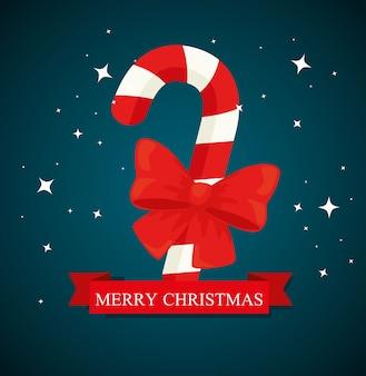 Diseño de dulces de feliz navidad, temporada de invierno y decoración.