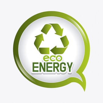 Diseño ecología energía verde.