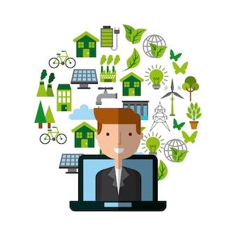 Diseño de ecología y sostenibilidad