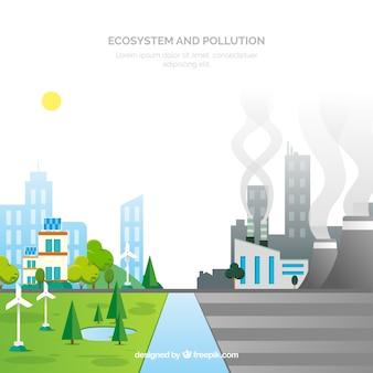 Diseño del ecosistema y contaminación