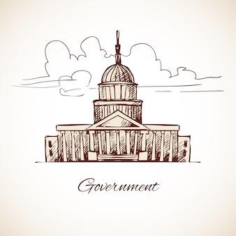 Diseño de edificio del gobierno