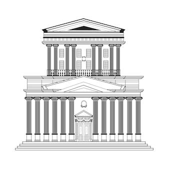 Diseño de edificio retro
