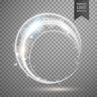 Diseño de efecto de anillo de luz de vector