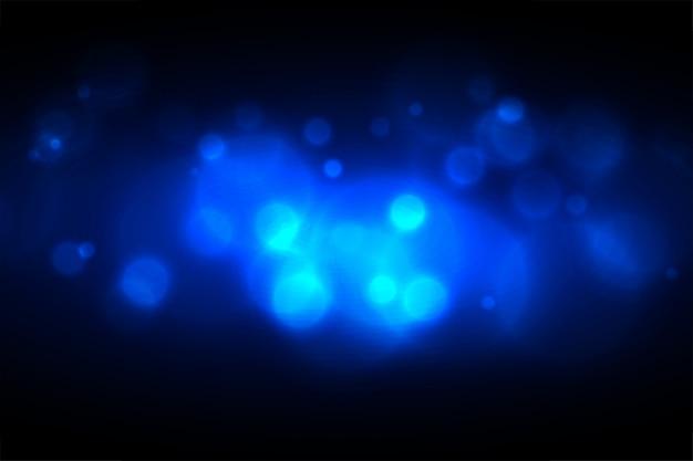Diseño de efecto de luz azul bokeh brillante