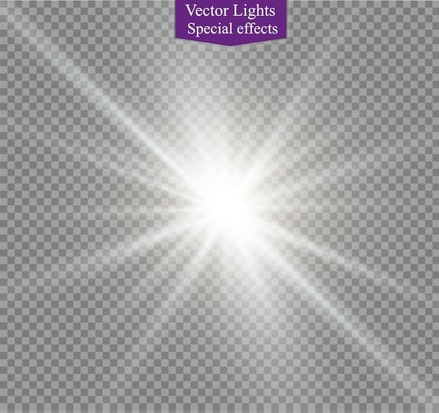 Diseño de efecto de luz especial transparente llamarada solar frontal dorado lente abstracta