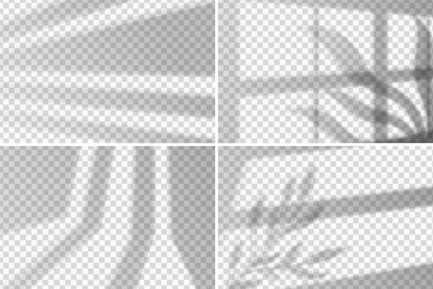 Diseño de efecto de superposición de sombras transparentes