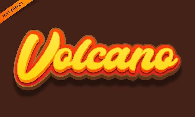 Diseño de efecto de texto de montaña volcán