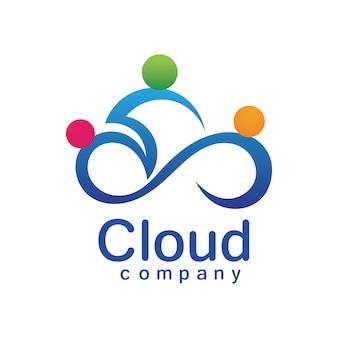 Diseño del ejemplo del icono del vector del logotipo de la nube