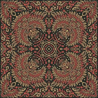 Diseño del ejemplo del pañuelo de la mandala del patrón del búho